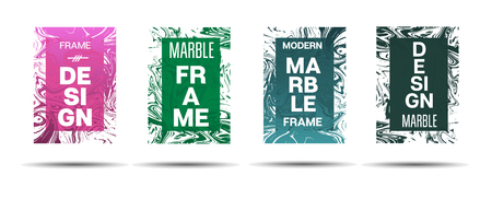 Marble Textured Frame.  Vector Funky Hipster Border for Sale Ads, Congratulations. Marble Textured Cool Cover, Business Card, Music Poster Design Dynamic Futuristic Creative Suminagashi Banner.