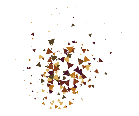 Cool Explosion, Broken Glass, Vector Grunge Blast, Falling Triangle Fragments, Dirty Shatter Concept. Mud, Burst, Boom, Bang Textured Background. Green, Brown Shatter Particles Isolated. Moving Galaxy 일러스트