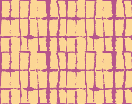 Traditional Japan Tie Dye Ornament Organic Kimono Vector Seamless Pattern. Asian Fashion Fabric Watercolour Batik Print, Wabi Sabi Ikat Geo Texture. Hand Painted Shibori Geometric Seamless Background
