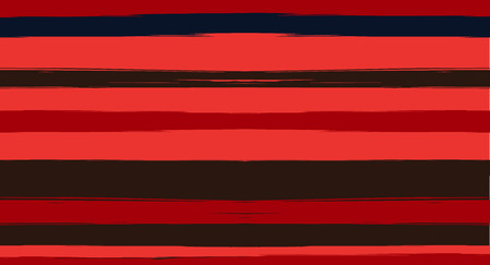 Brown, Black, Red Vector Seamless Summer Pattern Funky Sailor Stripes. Grunge Textured Horizontal Graffiti Lines, Paint Brush Male Fabric Design. Vector Watercolor Seamless Stripes Trace Background Ilustração