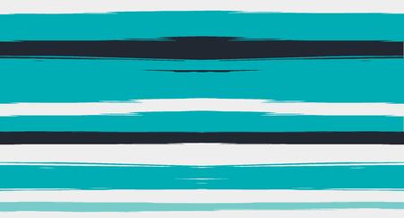 Blue Horizontal Paintbrush Seamless Sailor Stripes. Geometric Trendy Summer Maritime Texture Prints. Hand Painted Male or Female T-Shirt Winter Ocean Pattern. Track Blue Watercolor Sailor Stripes Archivio Fotografico - 124907312