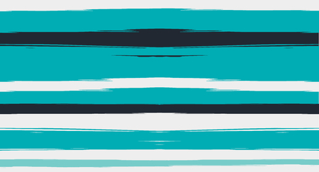 Blue Horizontal Paintbrush Seamless Sailor Stripes. Geometric Trendy Summer Maritime Texture Prints. Hand Painted Male or Female T-Shirt Winter Ocean Pattern. Track Blue Watercolor Sailor Stripes
