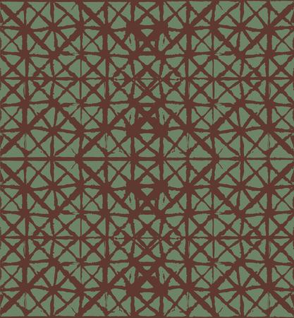 Japanese Kimono Vector Seamless Pattern, Funky Tie Dye Geisha Ornament. Wabi Sabi Ikat Geo Texture, Asian Kimono Textile Watercolour Batik Prints. Textured Shibori Cool Boho Seamless Summer Pattern