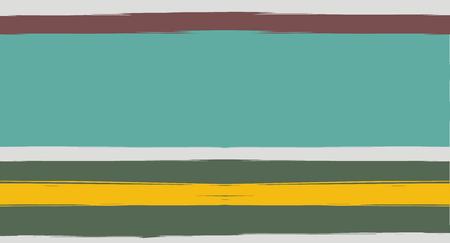Brown, Green, Gray Sailor Stripes Painted Vector Seamless Summer Pattern. Simple Textured Horizontal Modern Lines, Paintbrush Male Fabric Design. Vector Watercolor Seamless Stripes Paint Background Archivio Fotografico - 124907342