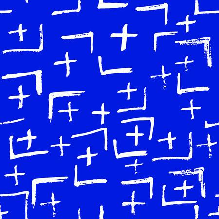 Tie Dye Japanese Geometric Summer Seamless Pattern. Geo Wabi Sabi Decorative Kimono Print. Scribble Cartoon Doodle Craft Texture. Boho Tie Dye Asian Batik. Scribble Craft Doodle Seamless Collage