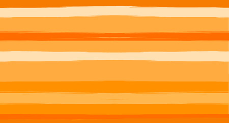 Orange, Brown Lines Seamless Summer Pattern, Vector Watercolor Sailor Stripes. Horizontal Brushstrokes Trace Vintage Grunge Textile Clothe Design. Ink Painted Doodle Lines, Geometric Track Prints