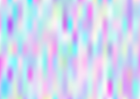 Hologram Vector Fairy Tale Dreamy Background. Gradient Design, Holographic Rainbow Girlie Iridescent Waves Wallpaper. Bright Pearlescent Hologram Fairy Cool Web Banner. Modern Tech Music Sound