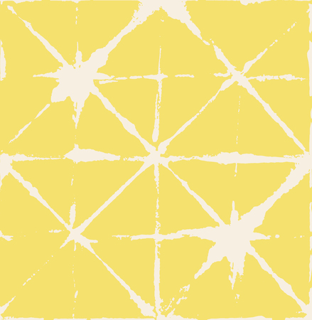 Artistic Tie Dye Geisha Ornament, Japanese Kimono Vector Seamless Pattern. Wabi Sabi Ikat Geo Texture, Asian Kimono Fabric Watercolor Batik Design. Textured Shibori Geometric Seamless Summer Pattern Stock Illustratie