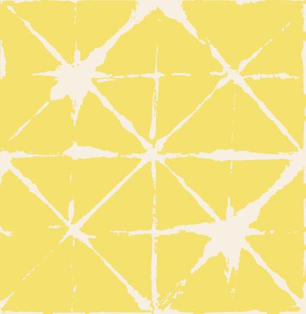 Artistic Tie Dye Geisha Ornament, Japanese Kimono Vector Seamless Pattern. Wabi Sabi Ikat Geo Texture, Asian Kimono Fabric Watercolor Batik Design. Textured Shibori Geometric Seamless Summer Pattern Illustration