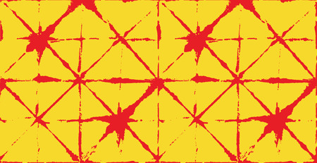 Japanese Kimono Vector Seamless Pattern, Female Tie Dye Organic Texture. Wabi Sabi Ikat Geo Texture, Asian Kimono Design Watercolour Batik Prints. Textured Shibori Bohemian Seamless Summer Pattern Illustration