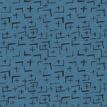 Tie Dye Japanese Geometric Organic Seamless Pattern. Scribble Cartoon Doodle Craft Texture. Geo Wabi Sabi Decorative Kimono Print. Boho Tie Dye Paint Batik. Scribble Craft Doodle Seamless Collage