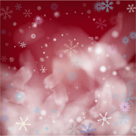 Realistic Vector Snowfall on Blue. Holidays Background, Christmas, New Year Flyer. Realistic Snowfall Texture, Flying Snowflakes Overlay. Christmas Dots Frame, Storm, Frost Effect Magic Ice Vector.