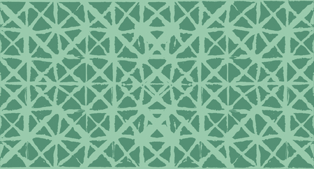 Japanese Kimono Vector Seamless Pattern, Female Tie Dye Organic Texture. Wabi Sabi Ikat Geo Pattern, Asian Kimono Fashion Watercolor Batik Design. Textured Shibori Bohemian Seamless Summer Pattern
