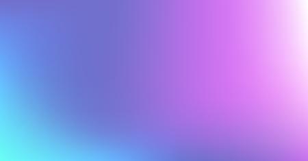 Blue Purple Dreamy Vibrant Gradient Vector Background. Neon Color Overlay, Sunrise, Sunset, Sky, Water Design Element. Luxury Trendy Holograph Defocused Texture. Minimal Paper Teal Digital Gradient