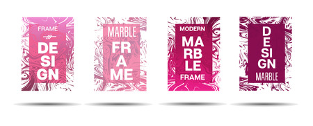 Liquid Marble Frame.  Vector Painted Hipster Border for Sale Ads, Text. Modern Cover, Business Card, Music Poster Marble Textured Design Dynamic Futuristic Creative Liquid Paint Banner. Illustration