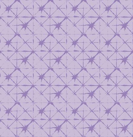 Japanese Kimono Vector Seamless Pattern, Funky Tie Dye Geisha Ornament. Wabi Sabi Ikat Geo Texture, Asian Kimono Fabric Watercolor Batik Design. Textured Shibori Geometric Seamless Summer Pattern