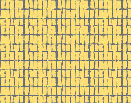 Artistic Tie Dye Geisha Ornament, Japanese Kimono Vector Seamless Pattern. Wabi Sabi Ikat Geo Texture, Asian Kimono Textile Watercolour Batik Prints. Textured Shibori Geometric Seamless Summer Pattern
