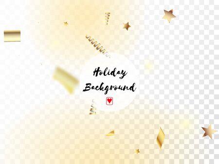 Modern Magic Glitter Confetti, Golden Foil Tinsel Trail. Horizontal Magic Streamers Background. Cool Platinum Christmas, New Year, Birthday Party Holiday Texture. Magic Glitter Confetti Tinsel