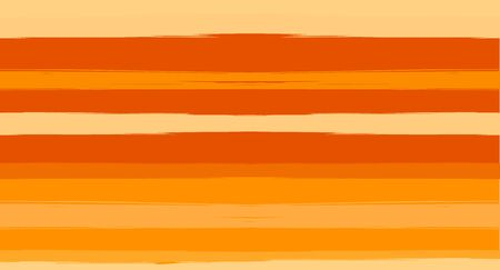 Orange, Brown Nice Seamless Summer Pattern, Vector Watercolor Sailor Stripes. Horizontal Brushstrokes Retro Vintage Grunge Textile Clothe Design. Ink Painted Doodle Trace, Geometric Track Prints  イラスト・ベクター素材