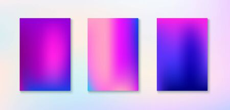 Purple, Pink, Turquoise, Blue Gradient Shiny Vector Background. Fluid Neon Bright Trendy Wallpaper. Fluorescent Gradient Overlay Vibrant Unfocused Cover. Funky Vertical Screen Size Gradient Set.