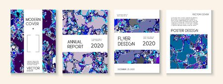 Geographic Map Fluid Paint Vector Cover. Water Ecology Blue Winter Report. Modern Earth Day Ecology Poster. Corporate Identity, Ad Annual Report Template. Geographic Map Fluid Oil Cover