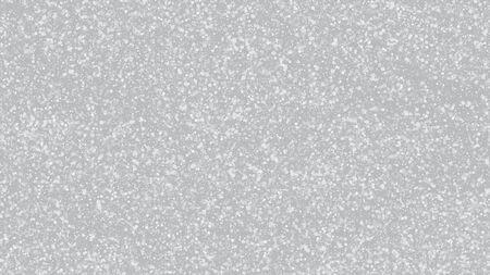 Neve che cade su grigio, vettore. Priorità bassa della tempesta di vacanze invernali. Fiocchi di neve che cadono, cielo notturno. Cornice pubblicitaria, Capodanno, Natale. Dispersione elegante, scintillio bianco di lerciume. Neve che cade fredda Vettoriali