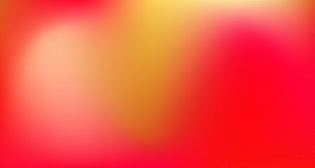 Red Yellow Pink Tropical Gradient Background. Elegant Colorful Vibrant Unfocused Horizontal Banner. Iridescent Noble Vector Color Overlay. Dreamy Neon Bright Trendy Wallpaper. 80s Glam Gradient Paper
