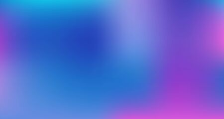 Blue Purple Pink Digital Gradient Background. Liquid Neon Bright Trendy Wallpaper. Elegant Colorful Vibrant Unfocused Horizontal Banner. Fluorescent Noble Vector Color Overlay. 80s Glam Gradient Paper