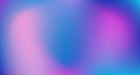 Blue Purple Pink Digital Gradient Background. Elegant Colorful Vibrant Defocused Horizontal Banner. Dreamy Neon Bright Trendy Wallpaper. Fluorescent Noble Vector Color Overlay. 80s Glam Gradient Paper Vetores