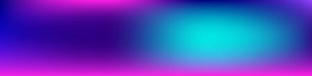 Purple, Pink, Turquoise, Blue Gradient Shiny Vector Background. Dreamy Neon Bright Trendy Wallpaper. Wide Horizontal Long Gradient Banner. Iridescent Gradient Overlay Vibrant Unfocused Cover.