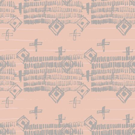 Tie Dye Japanese Geometric Artistic Seamless Pattern. Geo Wabi Sabi Minimalist Kimono Print. Boho Tie Dye Japan Batik. Scribble Cartoon Doodle Craft Texture. Scribble Craft Doodle Seamless Collage 矢量图像