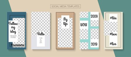 Social Stories Cool Vector Layout. Tech Sale, New Arrivals Story Layout. Blogger Simple Cards, Social Media Kit Template. Online Shop Polygon Graphic Brand. Social Media Stories VIP Layout