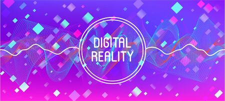 Flying Particles Distressed Purple Vector. Colorful Geometric Background. 3D Flow Shapes Poster. Data Stream Minimal Banner. Pink Blue Purple Futuristic Gradient Overlay. Big Data Neon Wallpaper.