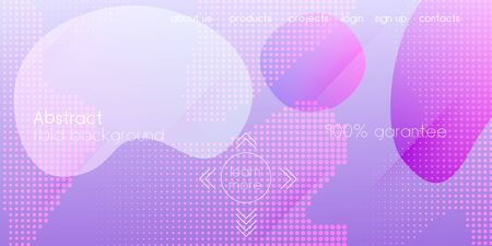Liquid Purple Background. Neon Color Purple Banner Layout. Digital Dynamic Poster. Trendy Gradient Shapes Template. Cool 3d Cover Presentation. Futuristic Landing Page. Vector Fluid Gradient Overlay.