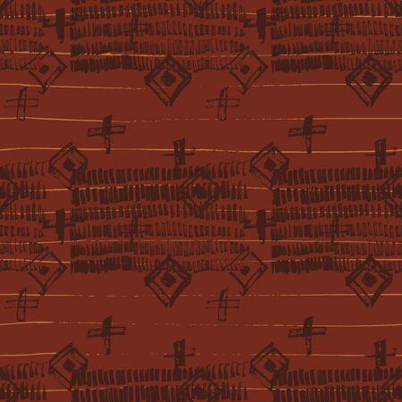 Tie Dye Geometric Shibori Seamless Pattern. Scribble Cartoon Doodle Craft Texture. Boho Tie Dye Wash Batik. Geo Wabi Sabi Traditional Kimono Print. Vettoriali