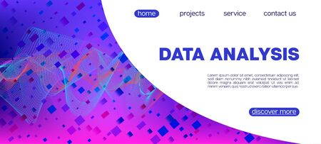 Falling Particles Distressed Purple Vector. 3D Liquid Shapes Website. Abstract Geometric Background. Big Data Neon Background. Data Analytics Cool Banner. Pink Blue Purple Futuristic Gradient Overlay. 向量圖像