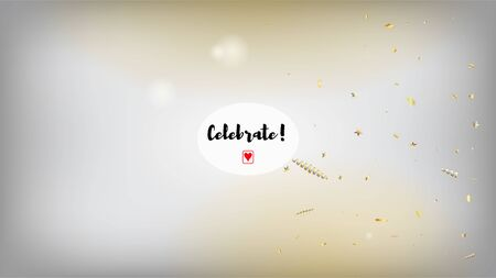Modern Magic Glitter Confetti, Golden Foil Tinsel Trail. Cool Platinum Christmas, New Year, Birthday Party Holiday Pattern. Horizontal Lights Night Sky Background. Magic Glitter Confetti Tinsel