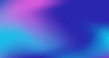 Blue Purple Pink Digital Gradient Background. Elegant Colorful Vibrant Defocused Horizontal Banner. Fluid Neon Bright Trendy Wallpaper. Iridescent Noble Vector Color Overlay. 80s Glam Gradient Paper