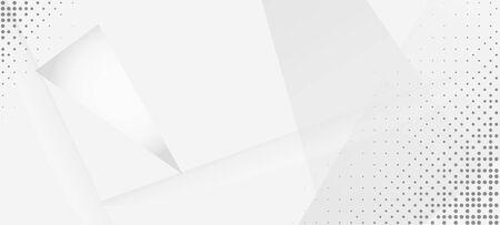 Halftone Dynamic Gray Vector Background. Minimal Faded Banner. Halftone Wallpaper. Grain Pattern. Edgy Art. Pop Art Dots Light Texture. Gray White Shadow Page. Geometric Dots Texture. Geo Lines Shape Ilustração