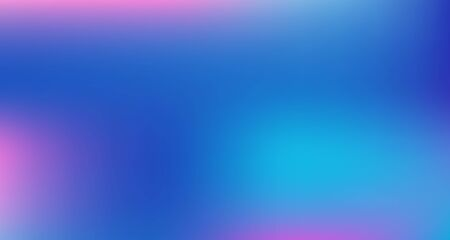 Blue Purple Pink Digital Gradient Background. Elegant Colorful Vibrant Unfocused Horizontal Banner. Fluorescent Noble Vector Color Overlay. Liquid Neon Bright Trendy Wallpaper. 80s Glam Gradient Paper