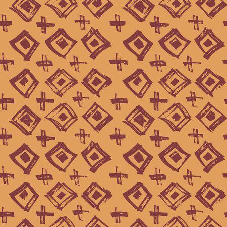 Tie Dye Japanese Geometric Summer Seamless Pattern. Scribble Cartoon Doodle Craft Texture. Geo Wabi Sabi Decorative Kimono Print. Boho Tie Dye Ikat Batik. Scribble Craft Doodle Seamless Collage