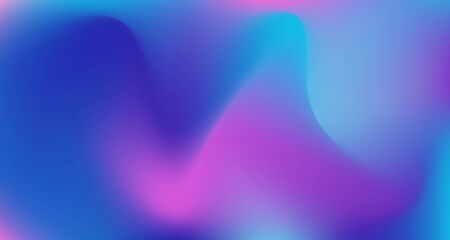 Blue Purple Pink Digital Gradient Background. Liquid Neon Bright Trendy Wallpaper. Pearlescent Noble Vector Color Overlay. Elegant Colorful Vibrant Unfocused Horizontal Banner. 80s Glam Gradient Paper