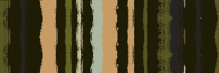 Funky Vertical Stripes Seamless Background. Summer Spring Graffiti Stripes. Paintbrush Lines Texture. Dirty Distress Trace. Autumn Winter Modern Fashion Print. Torn Vector Watercolor Paint Lines.
