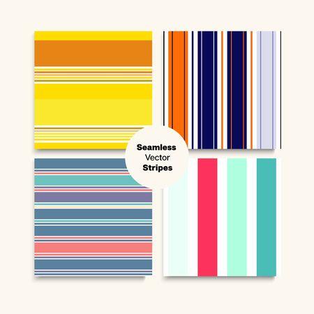 Sailor Stripes Seamless Design Set. Elegant Fashion Background Summer Autumn Funky Fashion Textile. Training Suit Lines Trendy Lines Endless Pattern. Childrens Female Male Seamless Stripes Texture.