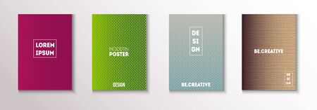Folded Minimal Cover Vector Set. Cool Technology Background. Textured Gradient Overlay Business Folder. Glam Magazine Page. 80s Neon Music Poster. Minimal Covers Set. Modern Flyer Graphic Design.