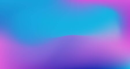 Blue Purple Pink Digital Gradient Background. Dreamy Neon Bright Trendy Wallpaper. Elegant Colorful Vibrant Unfocused Horizontal Banner. Fluorescent Noble Vector Color Overlay. 80s Glam Gradient Paper