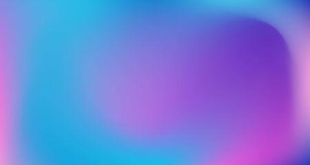 Blue Purple Pink Digital Gradient Background. Fluid Neon Bright Trendy Wallpaper. Fluorescent Noble Vector Color Overlay. Elegant Colorful Vibrant Defocused Horizontal Banner. 80s Glam Gradient Paper