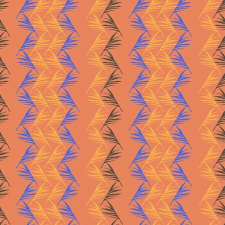 Hipster Tropical Vector Seamless Pattern. Elegant Male Shirt Female Dress Texture. Fine Summer Fashion. Banana Leaves Feather Monstera Dandelion Tropical Seamless Pattern. Drawn Floral Background.
