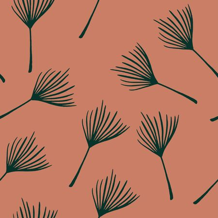 Hipster Tropical Vector Seamless Pattern. Banana Leaves Dandelion Monstera Feather Tropical Seamless Pattern. Nice Summer Fashion. Painted Floral Background. Beautiful Male Shirt Female Dress Texture.