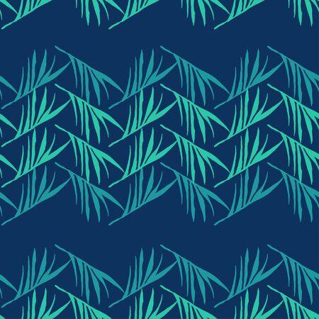 Modern Tropical Vector Seamless Pattern. Elegant Male Shirt Female Dress Texture. Dandelion Feather Monstera Banana Leaves Tropical Seamless Pattern. Drawn Floral Background. Nice Summer Fabrics.